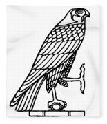 Egyptian Symbol: Falcon Fleece Blanket