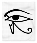 Egyptian Utchat Fleece Blanket