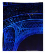 Eiffel Blue Fleece Blanket