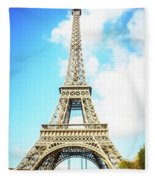 Eiffel Tower Portrait Fleece Blanket