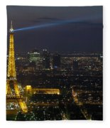 Eiffel Tower At Night Fleece Blanket