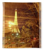 Eiffel Tower By Bus Tour Greeting Card Poster Fleece Blanket
