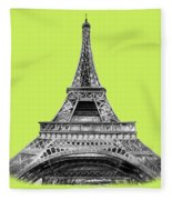 Eiffel Tower Design Fleece Blanket