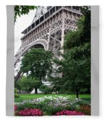 Eiffel Tower Garden Fleece Blanket