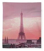 Eiffel Tower Sunset Art Fleece Blanket