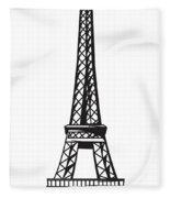 Eiffel Tower Up Fleece Blanket