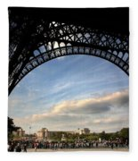 Eiffel Tower View Fleece Blanket