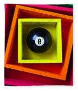 Eight Ball In Box Fleece Blanket