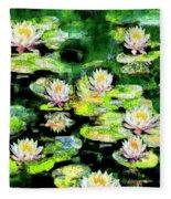 Eight #waterlilies Fleece Blanket