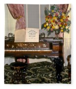 Eighteenth Century Piano And Parlor Fleece Blanket