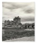 Eilean Donan Castle Bw 1337 Fleece Blanket