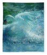 Ein Schwan - The Swan Fleece Blanket