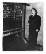 Einstein At Princeton University Fleece Blanket