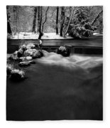 Eisbach In The Winter Fleece Blanket