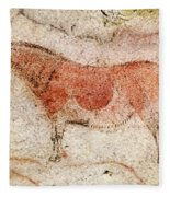 Ekain Cave Horse 2 Fleece Blanket