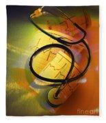 Ekg Stethoscope Composite Fleece Blanket