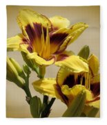 El Bandito Daylilies - Yellow  Fleece Blanket