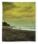 El Beach - El Salvador Fleece Blanket