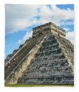 El Castillo Of Chichen Itza Fleece Blanket