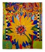 El Girasol Fleece Blanket
