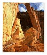 El Malpais La Ventana Arch Fleece Blanket