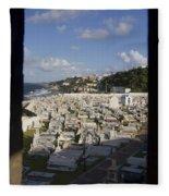 El Morro Cemetery Framed Fleece Blanket