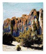 El Morro Cliffs Fleece Blanket