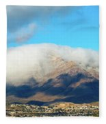 El Paso Franklin Mountains And Low Clouds Fleece Blanket