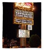 El Rancho Hotel, Nm Fleece Blanket