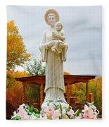El Santuario De Chimayo Sculpture Garden 5 Fleece Blanket