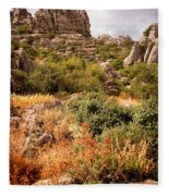 El Torcal Rock Formations Fleece Blanket