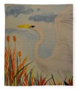Elana - Egret Fleece Blanket