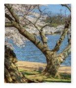 Elder Cherry Tree Fleece Blanket