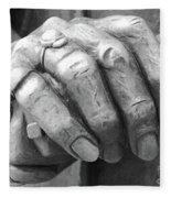 Elderly Hands Fleece Blanket