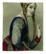Eleanor Of Aquitaine, Queen Of Henry II Fleece Blanket