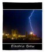 Electric Brew Poster Fleece Blanket