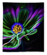Electric Daisy Fleece Blanket