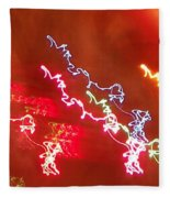 Electric Dazzle Abstract Fleece Blanket