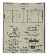 Electric Football Patent 1955 Aged Gray Fleece Blanket