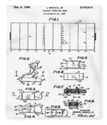 Electric Football Patent 1955 Fleece Blanket