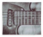 Electric Guitar Fleece Blanket