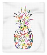 Electric Pineapple - Art By Linda Woods Fleece Blanket