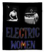 Electric Women Fleece Blanket