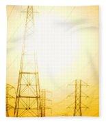 Electricity Towers Fleece Blanket
