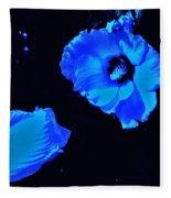 Electrifying Blue Beauty Fleece Blanket
