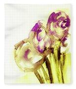 Elegant Flowers Fleece Blanket