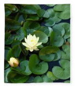 Elegant Water Lily Fleece Blanket