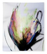 Elemental In Color Abstract Painting Fleece Blanket