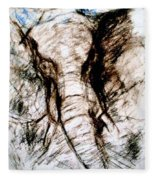 Elephant Charge Fleece Blanket
