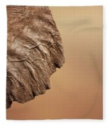 Elephant Ear Close-up Fleece Blanket